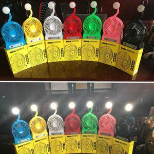 Mini Usb Ventilador Luces LED Touch Cargadores Ventiladores Eléctricos Portátil De Mano Para Estudiantes Ventilador de Aire Ventilador Escritorio USB Fan 7 color KKA1590