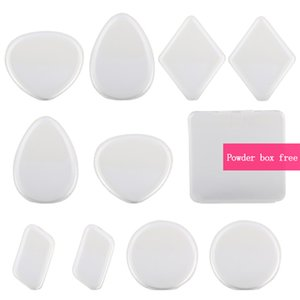 Silicone Tool Makeup Puff Liquid Powder 10pcs lot Blending Cream Beauty Lady BB Puff Free Cosmetic Kit With 1pcs Foudation For Box Nsurn