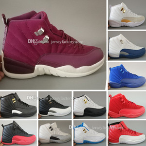 Nuovo 12 scarpe da basket da uomo in lana sneaker da uomo in nylon nero scarpe in pelle scamosciata blu scarpe flu gioco francese blu scarpe sportive online