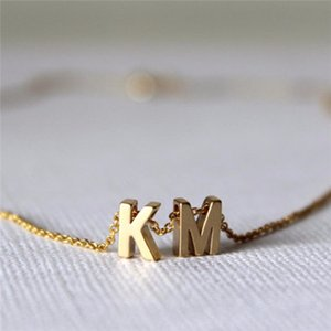 Name Gold Initial Necklace Gold Necklaces Letter Initials Tiny Girls .best For Women Pendant Necklace Birthday Gift Bblkq