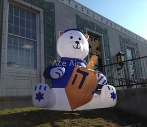 Frete grátis gigante inflável Hanukkah bear decorações ao ar livre