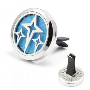3 звезды Автомобильные духи Locket 30 мм Магнитные 316L Нержавеющая сталь Lucky Aroma Essential Oil Diffuser Locket для автомобилей с бесплатными прокладками