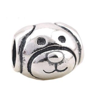 Подходит для европейского шарма браслеты Vintage собачкой Charm Beads Оригинал 925 стерлингового серебра собаки животных из бисера Diy Fine Jewelry