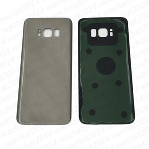 100 stücke oem batteriefach zurück gehäuse abdeckung glas abdeckung für samsung galaxy s8 g950 g950p s8 plus g955p mit aufkleber