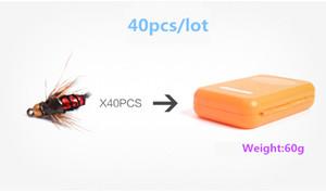 플라이 낚시의 40PCS는 PESCA 낚시 액세서리 후크를 물린 물고기의 쉬운 슈퍼맨 곤충 낚시 미끼 인공 미끼를 파리