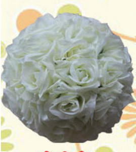 Hochzeit Blume Ball Seide Ornamente Kissing Ball Dekorieren Künstliche für Mi Markt Dekoration Bouquet Hanging Party Decor Dekorative Rose