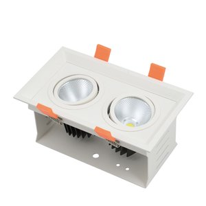 LED 그릴 라이트 더블 헤드 2x8w 2x12w 쥬얼리 쇼케이스, 숍 스토어, 다이닝 룸 2 Heads Adjustable 15 / 24 / 38 빔 각도