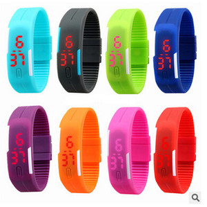 Impermeable Suave Led Reloj Touch Jelly Candy Silicone Rubber Digital Screen Pulsera Relojes Hombres Mujeres Unisex Reloj Deportivo