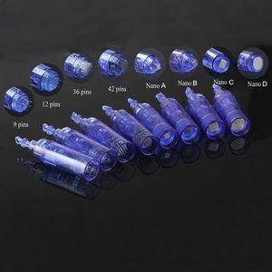 50 teile / los micro derma stift nadel patrone 1/3/5/7/9/12/36/42 pins für Dr.pen derma nadeln patrone tattoo pigmentierung edelstahl tipps