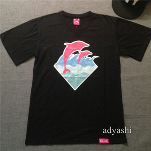 2018 new arrival pink dolphin hip hop t-shirt men and women with short sleeve 100% cotton good quality plus size xxxl top quality wholesale