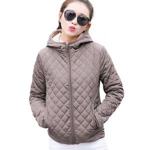 Sonbahar 2017 Parkas Temel Ceketler Kadın Kadın Kış Artı Kadife Kuzu Kapüşonlu Mont Pamuk Kış Ceket Bayan Dış Giyim coat
