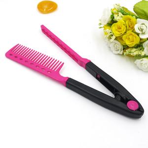 2017 HEIßER Salon Styling Friseur Haarglätter DIY Salon Hairdress Styling Pflege Haarglätter V Kamm Make-Up Werkzeug