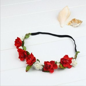 New Bohemia Flower Crown Handmade Wedding Wreath nuziale copricapo fascia Hairband Hair Band Accessori per le donne Lady