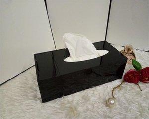 Heißer Verkauf! Klassische hochgradige Acryl-Multifunktions-Gewebebox / kosmetische Zubehör Lagerung mit Geschenkverpackung