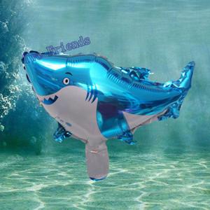 Mini Shark Fish Foil globo mar tema animales globos inflables globol aire para Bar tema fiesta de cumpleaños al por mayor