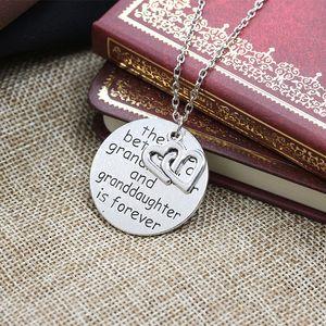 Forever Love Heart Grand abuela y nieta colgante collar te amo doble corazón collares joyas mejor regalo