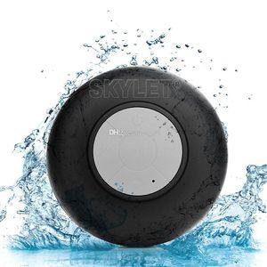 Bluetooth Hoparlör Su Geçirmez Kablosuz Duş Handsfree Mic Emme Chuck Hoparlör Araba Hoparlör Taşınabilir mini MP3 Süper Bas Çağrı Almak