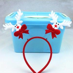 Noel Geyik Bandı Sıcak Boynuzları Ren Geyiği Çan Şapkalar Saç Bandı Moda Peluş Noel Dekorasyon Hairbands 77