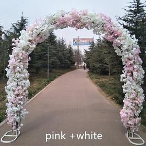 Haut de gamme de mariage métal de mariage arc Centerpieces portes suspendues Garland jardinières de fleurs de cerisier pour les fournitures du Festival