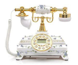 النمط الأوروبي الرجعية الثابت الهاتف المنزل اللاسلكية الثابتة الكلاسيكية الهاتف العتيقة الخشب الأرضية