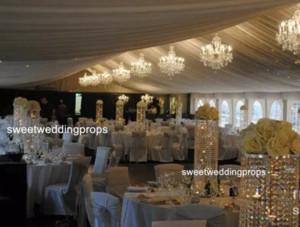 Ucuz kristal akrilik boncuk mumluk düğün centerpieces masa dekorasyon için