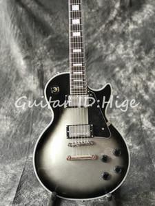 Nuevo llega Custom Shop Silverburst Guitarra eléctrica, Guitarra Silver Burst de alta calidad, Muestra de fotos reales, Todos los colores están disponibles, venta caliente