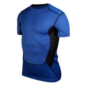 All'ingrosso camicie strette Compression Uomo Base Layer allenamento fitness Tops S-XXL