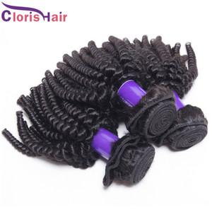 Fabrik Preis Curly Brasilianische Haarwebart Mix 3 Bundles Günstige Afro Verworrene Lockige Menschenhaar Extensions Unverarbeitete Doppel Maschineneinschlagfaden