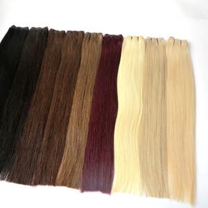 Бразильский уток волос человеческие волосы соткут прямые пачки полные выдвижения волос Надкожицы Remy отсутствие путать отсутствие линять продолжать над 12months