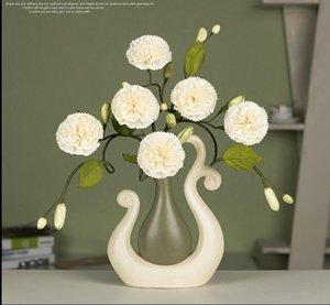 현대 운이 좋은 새 14 모양 홈 장식을위한 도자기 꽃병 탁상용이 pirce는 화병과 꽃을 함께 모으기위한 것입니다.