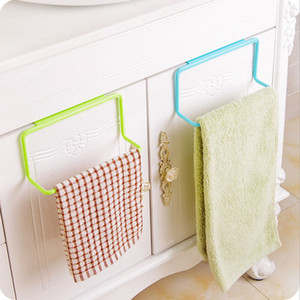 Over Door Tea Towel Rack Bar Hanging Holder Rail Organizer Bathroom Kitchen Cabinet Cupboard Hanger Shelf HH-H06