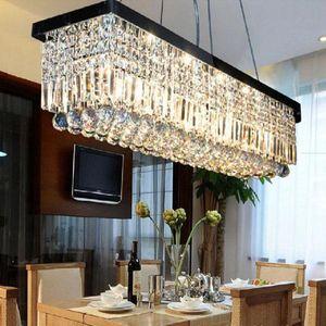 2017 뜨거운 크리스탈 droplight 현대적인 직사각형 비 방울 크리스탈 샹들리에 다이닝 룸 서스펜션 램프 조명기구