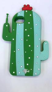Caja de goma suave 3D Robot Cactus para el iPhone 6 6s 6plus 7 Plus Silicone contraportada Coque Capa robot de silicio Cactus Caso