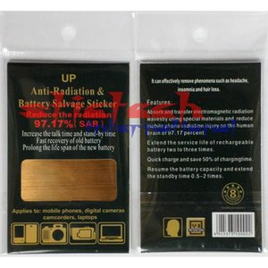 by DHL or EMS 500 pieces anti radiation battery sticker for cellphone