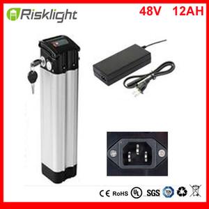 صنع في الصين أعلى التفريغ 48V 12AH شظية بطارية 48V 750W الأسماك البريد الدراجة حزمة بطارية ليثيوم أيون ل48V 750W المحرك مع شاحن
