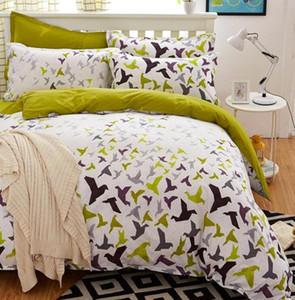 Birds & Blooms bedding set flower bed linens 4pcs set 5 size duvet cover set Pastoral bed set kids   Adult bedding bedcloth