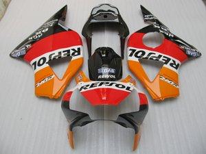 Aftermarket обтекатель комплект для Honda CBR900RR 02 03 оранжевый черный кузов обтекатели комплект CBR 954RR 2002 2003 OT08