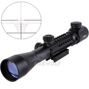 2017 NEW 3-9X40EG Illuminated Red Green Rangefinder Reticle Riflescope of Tripe Picatinny Rail Hunting Airsoft Rifle Scope