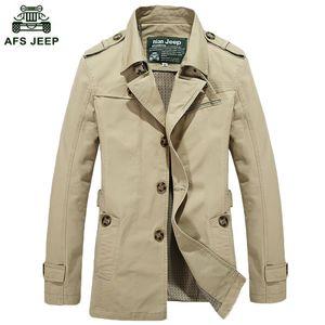 Großhandel - 2020 Neue Stil Herren Qualität Trench Herren Oberbekleidung Beiläufige Mantel Herren Jacken Trenchcoat Männer Freies Verschiffen M ~ 5xl69HFX