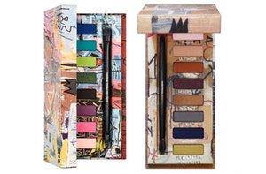 Nuevo 8 colores Jean-Michel Basquiat Tenant Paleta Sombra de ojos Gold Griot Sombra de ojos Maquillaje de belleza con pincel Mate paleta