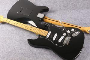 David Gilmour coutume Strat Ocaster signature ST pickguard noir guitare électrique Jaune Vintage Neck Dot Inlay Double verrouillage Tremolo Pont