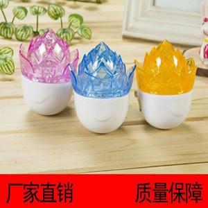 Başucu lambası yaratıcı istihbarat elektrik fişi satan üreticiler led lotus küçük gece lambası CCC sertifikası