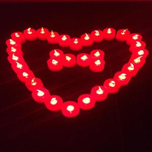 낭만적 인 화려한 발광 LED 전자 촛불 촛불을 축하하는 결혼 촛불을 구애하는 고백