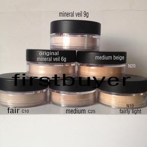 Высокое качество голый макияж Minerals пудра макияж пудра увлажняющая минеральная вуаль 6g / Осветительное минеральная вуаль 9g / минеральная вуаль 9g / тонированное