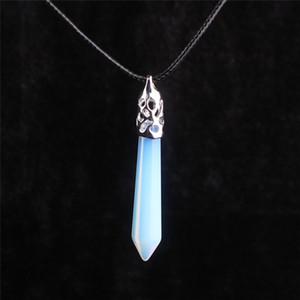 Gemstone Yoga Collana Grande Glowing Rainbow Opal Opalite Moonstone Ciondolo Sacro Ciondolo Crystal Guarigione Punto di guarigione Reki Chakra Porta in vibrazione positiva