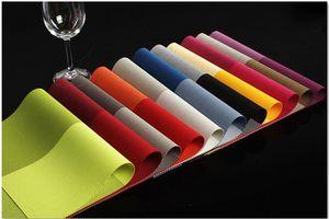 PVC çevre koruma ısı yalıtımı mat tessforest Batı tarzı gıda otel / bardak kase / masa mat renk şerit Matt