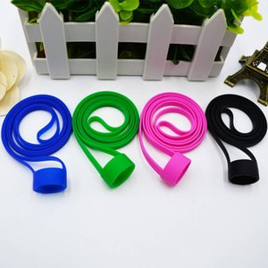 Wholesale Ego Silicone Lanyard with Vape Band O Ring Silicon Colorful Necklace lanyard String fit for 19mm-25mm E-cigarette Kits DHL free