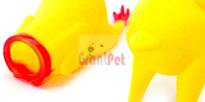 Squeaky dog toys Favorito produto de qualidade pet acessório shrilling frango brinquedo de vinil healty e dente de moagem GPBLCKBNE