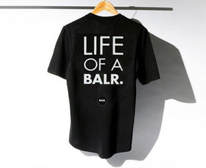 2017 lever d'un t-shirt balr tops t-shirt balr menwomen 100% coton Soccer football sportswear chemises de gymnastique BALR vêtements de marque