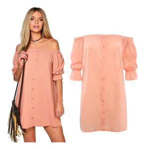 Las nuevas mujeres de la manera visten el estilo del verano hombro atractivo vestidos de tubo de la playa vestido de algodón limpiar hombro hombro sexy vestido